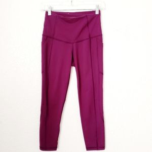 Victoria's Secret VSX Purple Yoga Cropped Leggings